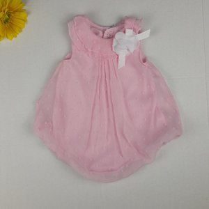 Baby Essentials Light Pink Bubble Romper Girls